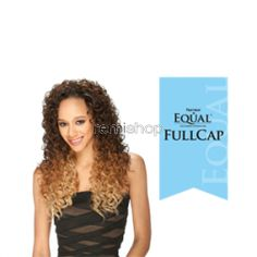 Equal (SNG) Drawstring Full Cap Fabulous Girl - Color P4/30 - Synthetic (Curling Iron Safe) Drawstring Half Wig