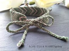 Designer Adult Friendship Bracelet  Moss Green by RoseTeaAndRabbit https://www.etsy.com/uk/listing/203280666/designer-adult-friendship-bracelet-moss?ref=shop_home_active_16