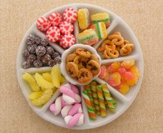 Candy-Platter--lots of play food idea inspiration. These are doll house miniatures, but beautiful photos to inspire DIY play food