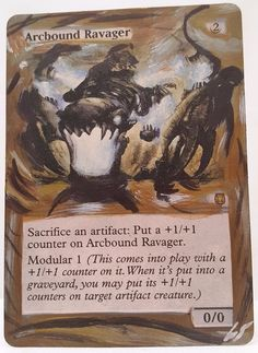 Arcbound Ravager This Is One Of My Altered Cards From This Weeks Batch! To See Them All Go To   http://stores.ebay.com/MtgAlteredMagicCards #MTG #MtgAddicts #MtgAlteredArt #MtgHandPainted #MtgExtendedArt #Magic #MagicTheGathering #MtgAlter #MtgArt #WOTC #FNM #EDH