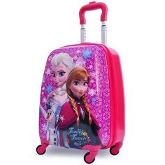 FROZEN 2014 Snow Queen snow stereo children girls luggage suitcase cartoon 18″ wholesale Pull rod box school bag Christmas gift