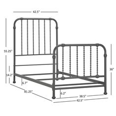 Gulliver Vintage Antique Spiral Twin Iron Metal Bed by IQ KIDS