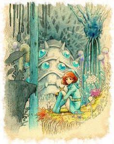 Nausicaa art by Hayao Miyazaki