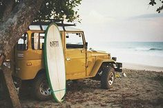 Sun, Surf, and Sand For This Mustard Yellow Toyota Land Cruiser FJ40