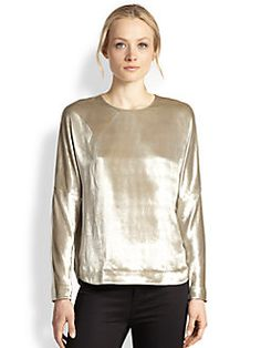 J Brand - Romy Metallic Velvet Top