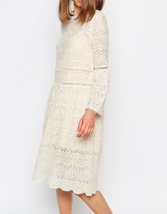 sister jane | Sister Jane Lace Dress With Flared Sleeves at ASOS