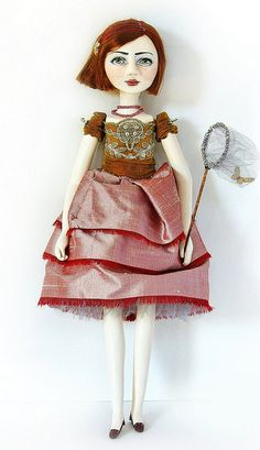 Art Doll Sukie & Butterfly Net~Image © Christine Alvarado, 2010