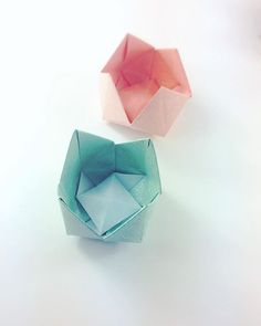 More origami flower bowls nicer paper origami paperfolding paperkawaii