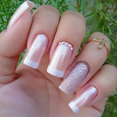 50 Beautiful Nail Art Designs & Ideas Nails have for long been a vital measurement of beauty and Stylish Nails, Trendy Nails, Cute Acrylic Nails, Cute Nails, Ambre Nails, Wedding Nails Design, Sexy Nails, Cool Nail Designs, Art Designs
