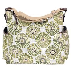 """OiOi Baby Bags Hobo Diaper Bag - Green Floral - OiOi Baby Bags - Babies """"R"""" Us"""
