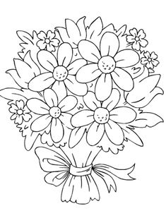 Image result for flower black and white drawing