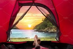 Camping Tent on Beach by bastera on @creativemarket