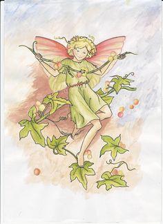 Een elfje van Mary Barker na getekend. Claudine van Es