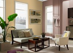 This is the project I created on Behr.com. I used these colors: RYE(310F-4),CHOCOLATE CURL(220F-6),CALM AIR(300E-2),ANTIQUE WHITE(1823),