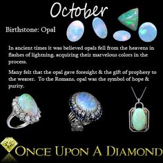 October Birthstone Information & Lore  #October #Opal #Birthstone