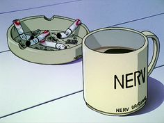 Image about anime in draws 💗 by sunshine Neon Genesis Evangelion, Aesthetic Japan, Aesthetic Anime, Anime Coffee, Cigarette Aesthetic, Naruto, Anime Art, Manga Anime, Cartoon Movies