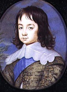 Miniature portrait of Charles II as a child by John Hoskins (1640s)