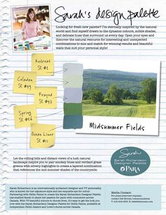 sarah  richardson color palettes | sarah richardson designer paint palette