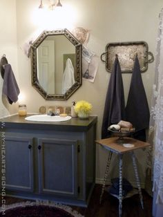 Website With Photo Gallery mobile home bathroom remodeling My Hearts Song Guest Bathroom with a French Country Twist