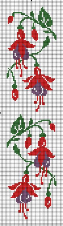 This Pin was discovered by Ese Cross Stitch Bookmarks, Cross Stitch Borders, Cross Stitch Flowers, Cross Stitch Charts, Cross Stitch Designs, Cross Stitching, Cross Stitch Embroidery, Embroidery Patterns, Cross Stitch Patterns