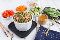 With fresh herbs and vegetables on hand, a quick cold noodle salad is perfect for lunch! I've created a creamy cashew sauce with a little kick and topped it all with fresh cilantro which is essential to bring the flavors together.