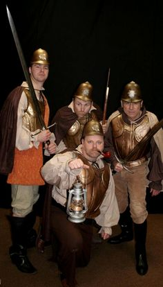 """Costumes for The Watch for Sodbury Players production of Stephen Briggs stage adaptation of Terry Pratchett's novel, """"Guards! Guards!"""""""