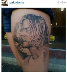 My Kurt Cobain portrait done by Oak Adams @ Painted Temple Tattoo