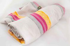 Baby Wrap, Jacquard Weave (60% cotton, 40% bamboo) - Vanilla Lace - size M (grade B) - LennyLamb.com