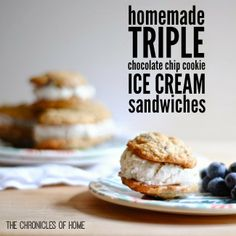 Triple-Chocolate Cookie And Strawberry Ice Cream Sandwiches Recipe ...