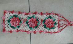 Porta papel higiênico de croche com flores. Flor catavento.