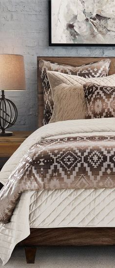 The Chalet Aztec Southwestern Comforter Set gracefully inspired by beautiful earthen tones will give your bedroom a luxuriously relaxed feel. Southwestern Bedroom Decor, Southwestern Decorating, Aztec Bedroom, Aztec Home Decor, Rustic Bedding Sets, Bedroom Sets, Bedrooms, Comforter Sets, Etsy