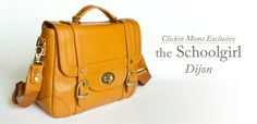 The Schoolgirl camera bag in color Dijon available only through the CM Store