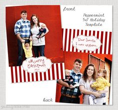 Peppermint  5x7 Vertical Postcard Christmas by YummyDesignStudio, $3.50