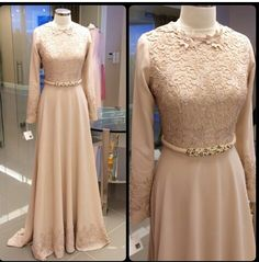 D Muslim Gown, Muslim Wedding Dresses, Modest Dresses, Nice Dresses, Prom Dresses, Abaya Fashion, Fashion Dresses, Hijab Dress Party, Dress Brokat