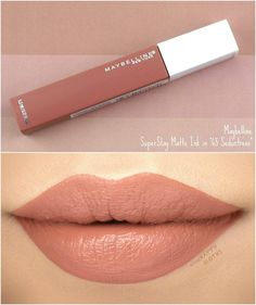 SuperStay Matte Ink in SeductressA weightless, full-coverage, matte liquid lipstick powered by Lip Comfort Complex™ to prime + hydrate your lips for all-day comfortable wear.Maybelline - The Most Beautiful SharesMaybelline - Best Of Likes ShareMake Maybelline Matte Lipstick, Superstay Maybelline, Lipstick Swatches, Makeup Swatches, Lipstick Shades, Makeup Dupes, Lipstick Colors, Skin Makeup, Liquid Lipstick