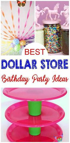 9 Dollar Store Birthday Party Ideas - EASY Dollar Store Hacks and DIY Crafts For The BEST Party Supplies - Decorations - Cupcake Stands - Centerpieces & More BEST Dollar Store Hacks & ideas for birthday parties! Amazing and easy DIY craft projects using Dollar Tree products. Dollar Store hacks for the most amazing birthday party ideas including birthday party supplies, decorations, centerpieces & more. Dollar<br> Planning to organize a fabulous birthday party with limited funds? I bet this… Party Favors, Birthday Party Decorations Diy, Birthday Party For Teens, Birthday Crafts, Fabulous Birthday, Craft Party, Birthday Nails, Cupcake Decorations, Birthday Bash