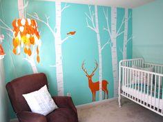 woodsy themed nursery - some DIYs