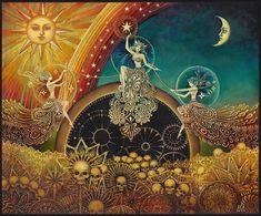 Raven godin 5 x 7 wenskaart heidense mythologie heks Art Nouveau psychedelische Boho Gypsy godin kunst Boho Gypsy, Gypsy Style, Celtic Tattoo For Women, The Raven, Pagan Art, Goddess Art, Witch Art, Visual Kei, Etsy
