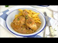 Pollo a la cerveza, en 30 minutos. Receta fácil y rápida paso a paso y con vídeo Thai Red Curry, Poultry, Food And Drink, Cooking Recipes, Yummy Food, Chicken, Meat, Ethnic Recipes, Gourmet