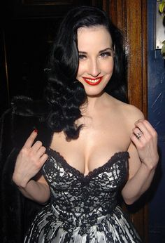 Image result for dita von teese long hair