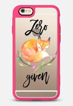 Zero Fox Given - Watercolor Floral iPhone 6 case in Pink and Clear by @rubyridgestudio | @casetify