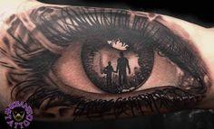 Eye tattoo by Dragos. Limited availability at Redemption Tattoo Studio. - My most beautiful tattoo list Baby Tattoos, Tattoos For Kids, Body Art Tattoos, New Tattoos, Ojo Tattoo, Tatoo Art, Samoan Tattoo, Polynesian Tattoos, Tattoo Ink