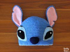 Warm Crochet I - Stitch, Polar Bear and Aviator Hat Crochet Pattern — BuddyRumi Disney Crochet Hats, Crochet Animal Hats, Crochet Beanie, Cute Crochet, Crochet Baby, Irish Crochet, Crotchet, Stitch Crochet, Crochet Stitches