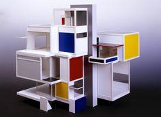 THEO VAN DOESBURG, CORNELIS VAN EESTEREN — Reconstitution de la maquette de la Maison d'artiste — La Haye, Collection Gemeentemuseum