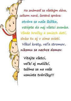 školka Under Wear o'neill underwear Crafts For Kids To Make, Art For Kids, Happy House, Early Education, Play To Learn, First Day Of School, Primary School, In Kindergarten, Holidays And Events