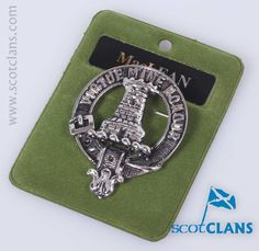 Pewter badge with MacLean Clan Crest - from ScotClans