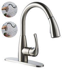 6. BOHARERS Nickel Stainless Steel Kitchen Faucet