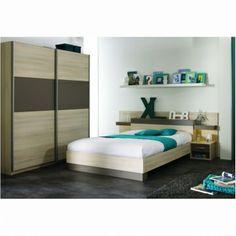 Moderní ložnice GRAFIK acacia / basalt