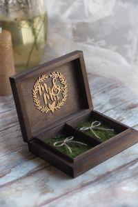 Pudełko drewniane rustykalne WIANEK MR&MRS