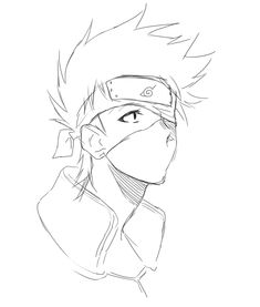 kakashi x reader Naruto Sketch Drawing, Kakashi Drawing, Naruto Drawings, Art Drawings Sketches Simple, Naruto Art, Anime Sketch, Manga Drawing, Cute Drawings, Cartoon Drawings